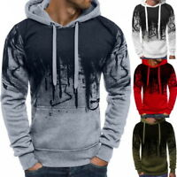 Fashion Mens Hooded Hoodies Sweatshirt Autumn Winter Warm Pullover Tops