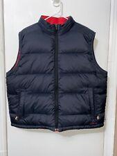 NWOT L.L. Bean Goose Down Reversible Full Zip Puffer Vest Red Gray Sz XL