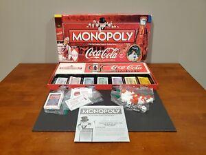 Monopoly Coca Cola 125th Anniversary Collectors Edition Board Game 100% Complete