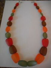 Fall colors freeform bead necklace