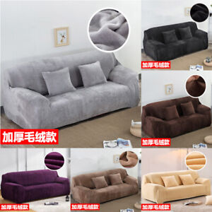 1/2/3 Velvet Sofa Covers Couch Slipcover Stretch Elastic Settee Protector Fit AU