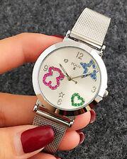 New Design Fashion Luxury Women Watch Ladies Electronic Bear Watches silver