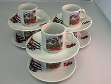 Cuban Espresso coffee cup set. 12 pc cup and saucer set.  F & L...