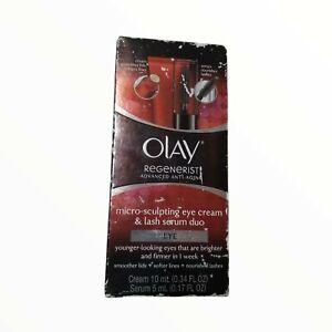 Olay Regenerist Micro Sculpting Eye Cream & Lash Serum Duo Sealed NWT