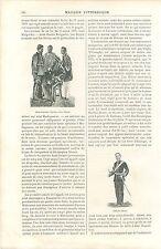 Armée Hova Prince Sakalava Gouverneur de Marovoay Madagascar GRAVURE  PRINT 1895