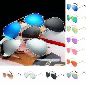 Sonnenbrille Verspiegelt Pilotbrille Fliegerbrille Brille Herren Damen UV400