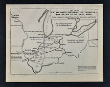 1920 Railroad Map - Shipping Rates to St. Paul Minnesota St. Louis Chicago RR