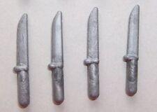 25710 Cuchillo plata 4u playmobil,knife