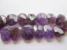 Large Irregular Faceted Nugget Natural Amethyst Gemstone Beads - 4pcs