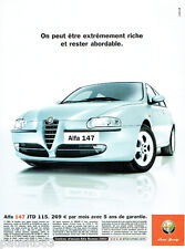 PUBLICITE ADVERTISING 125  2002  ALFA ROMEO  la  nouvelle 147 JTD