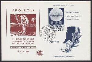 Belgium 1969 Souvenir sheet Cob# 46 MOON LANDING used on First Day Cover...X2153