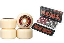 Spitfire Skateboard Wheels F4 Formula Four Lock-Ins 52mm 101 Bones Reds Bearings
