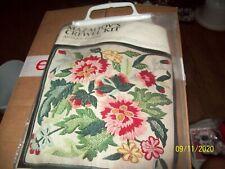 Mazaltov's Crewel Embroidery Needlepoint Kit Antique Floral Pillow; New