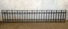 ANTIQUE WROUGHT IRON BALCONY / WINDOW GUARD / FENCE SECTION. 9 FT LONG . L@@k!!