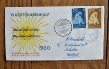 NETHERLANDS NEW GUINEA 1960 REFUGEES FDC WITH CACHET TO HOLLAND