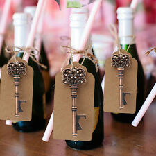 50x Skeleton Key Bottle Opener + Tag Card Bridal Party Souvenirs Wedding Favors