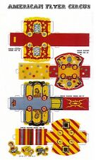 Cut & Assemble Circus Wagons in Oo scale from a circus set printed on cardstock
