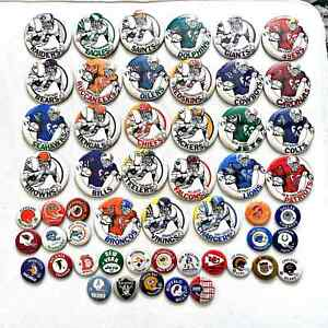 Sets Lot of (53) Vintage NFL AFL Football Pins Buttons - Rare!