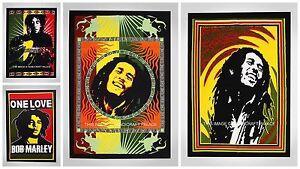 Indisch Bob Marley Druck Plakat Wandteppich Groß Flagge Gypsy Heim Dekor