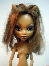 Monster High Clawdeen Wolf IT'S GHOULS ALIVE EYES MOVE & HOWLS Nude Doll Loose