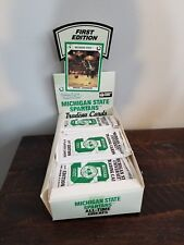 Complete Box Michigan State University Trading Cards 1st Edition 8 Player Cards.