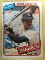 1980 Topps Willie Randolph Baseball Card #460 Yankees