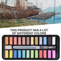 24 Color Watercolor Paint Set w/Brush Oil Painting Water Colour Pigments ll7