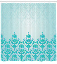 Shower Curtain Turquoise Medieval Victorian Royal Patterns 70 Inches Long