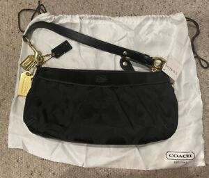 Coach Signature small hobo bag black