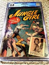 Jungle Girl #1 CGC 2.0 Fall 1942 Cream to Off-White pages bondage action cover