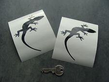 2 stickers auto Gecko 10cm Noir Brillant decal pegatinas aufkleber audi A241-070