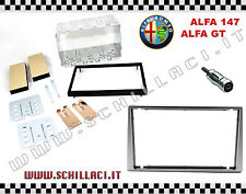 P2ISO KIT PLANCIA DOPPIO ISO 2 DIN Alfa Romeo 147 / Alfa GT Mascherina e antenna