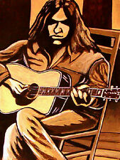 NEIL YOUNG PRINT poster decade cd harvest moon rock n roll cowboy martin guitar