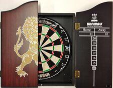 PRO STAR Micro Wire Dart board SET With Winmau Rosewood Lion Dart Cabinet +Darts
