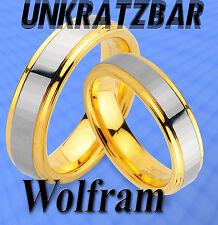 2 WOLFRAM TRAURINGE inkl GRAVUR GRATIS , mit IP GOLD Platierung  TUNGSTEN - JW10