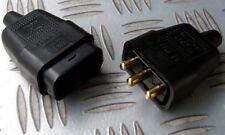 230 Volt 10 Amp 3 Pin In linea Accoppiatore Connettore a Spina Presa M/F Tuta tosaerba