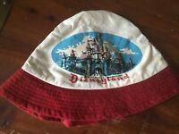 Vintage Disneyland Hat 60s 70s Walt Disney Productions Bucket Sailor Castle Cap