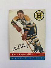 1954-55 Topps #6 Real Chevrefils - Boston Bruins