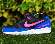 BNWB Genuine NIKE AIR Span II 2 OG ® Black Hyper Pink Retro Trainers UK Size 7.5