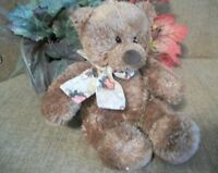 Gund Teddy Bear Fall Halloween Patches Vintage Collectible Brown Stuffed Plush