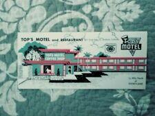 Vintage Top's Motel and Restaurant Brochure Anaheim California Disneyland 1959