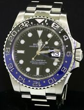 Rolex GMT-Master II 116710B Batman black/blue ceramic bezel SS men's watch w/B&P