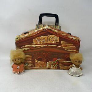 Vintage 1960's TROLL HOUSE Vinyl Carry Case Playset Action Figure Lot