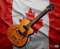 Godin 5th Avenue CW Kingpin II Archtop Hollowbody Electric Guitar w/Case Natural