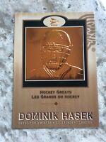 2001-02 MCDONALDS DOMINIK HASEK HOCKEY GREATS #4. R27