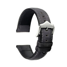 20/22mm Universal Vintage Distressed Genuine Leather Watch Band Strap Pin Buckle