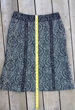 Tribal Skirt black and white, floral pattern, size 6