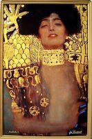 Judith i de Klimt Letrero Metal 3D en Relieve Arqueado Cartel Lata 20 X 30CM