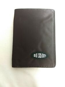 Authentic Big Skinny Brown Nylon Microfiber Trifold Wallet New