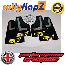 rallyflapz SUBARU IMPREZA Hatchback (08-14) PARASPRUZZI NERO STI GIALLO 4mm PVC